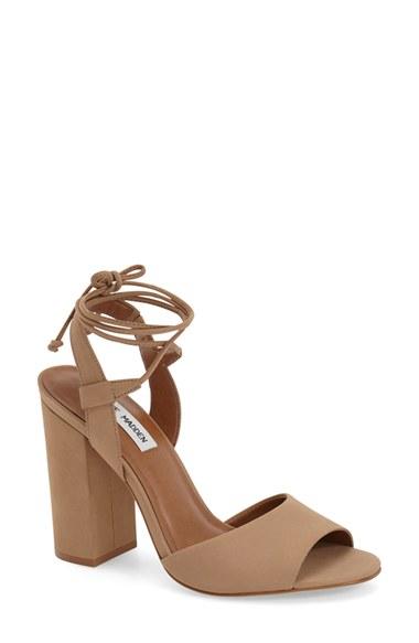 c3c37ba3179 Lyst - Steve Madden  serrina  Block Heel Lace Up Sandal in Brown
