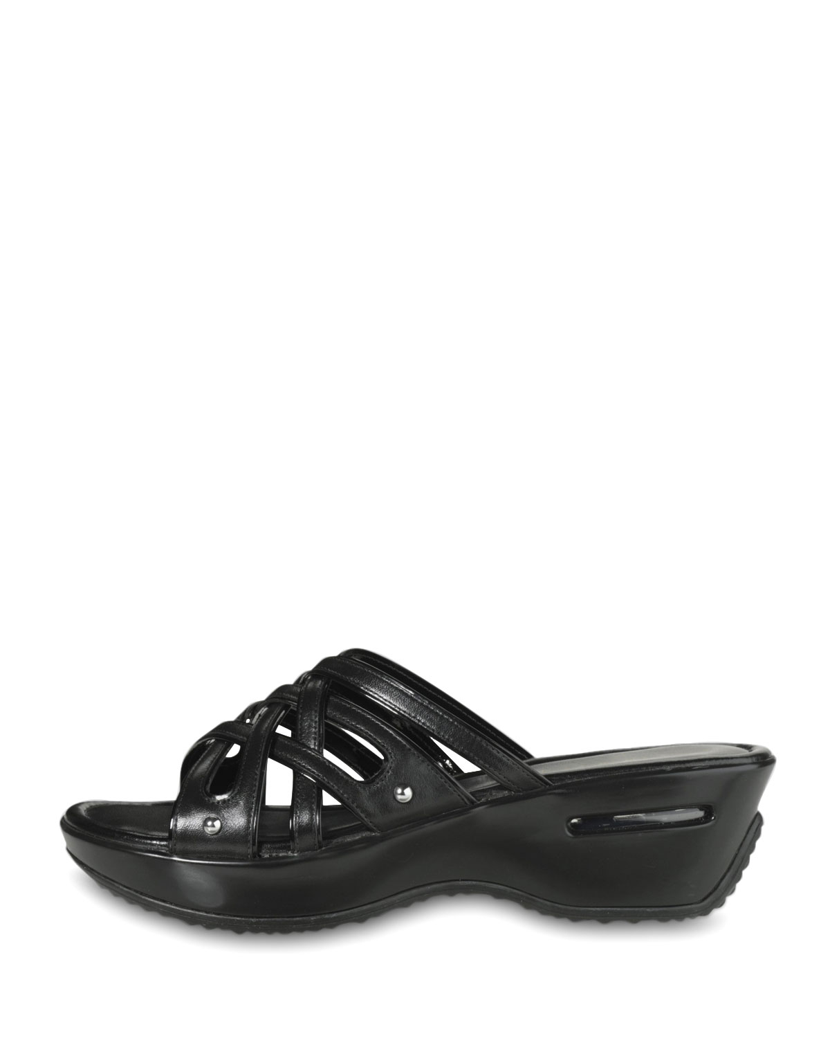 59cb9318a1f Lyst - Cole Haan Air Ezra Strappy Wedge in Black