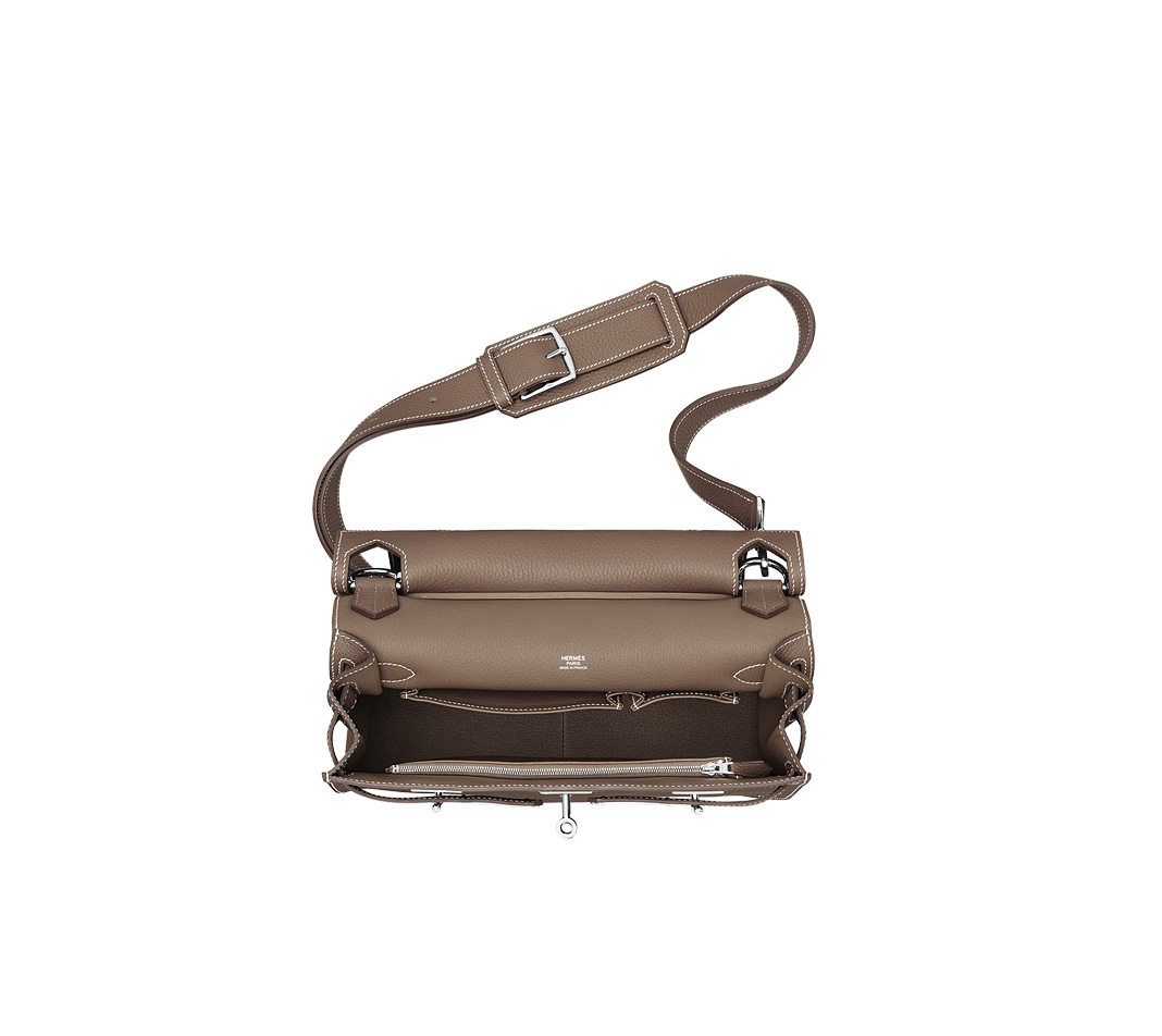 hermes Dogon Duo taupe wallet womens