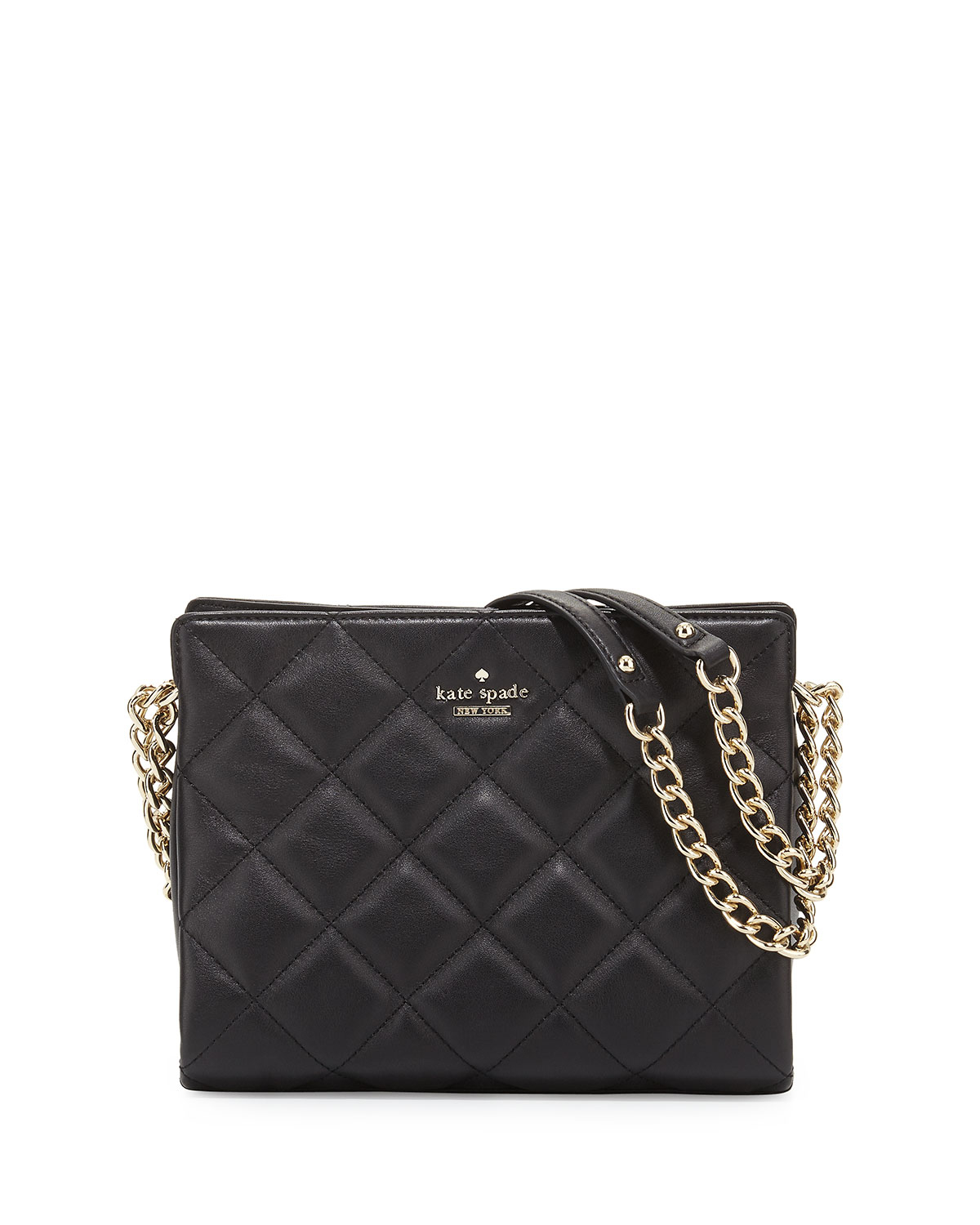 Kate Spade Emerson Place Quilted Leather Handbag In Black