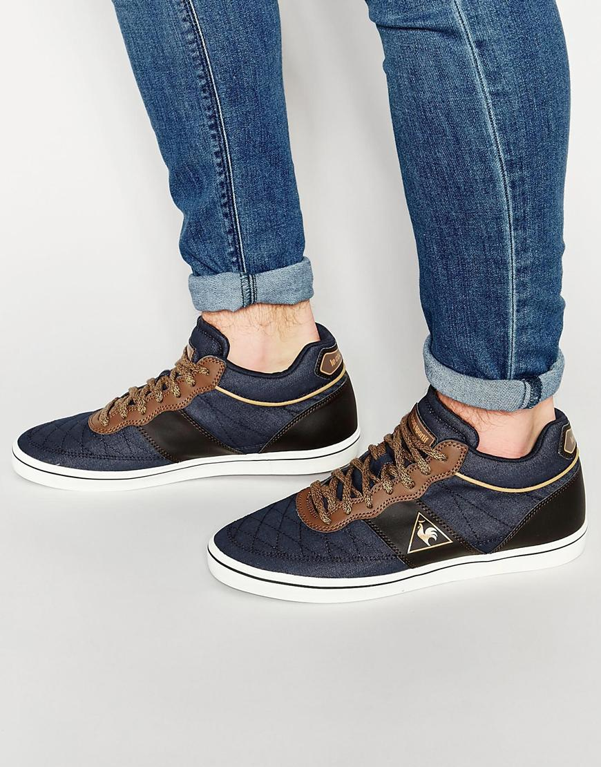 lyst le coq sportif troca mid sneakers in blue for men. Black Bedroom Furniture Sets. Home Design Ideas