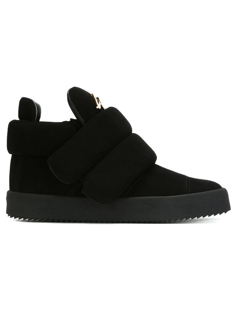 Giuseppe Zanotti Suede and calfskin leather high-top sneaker CESAR u4NfVw