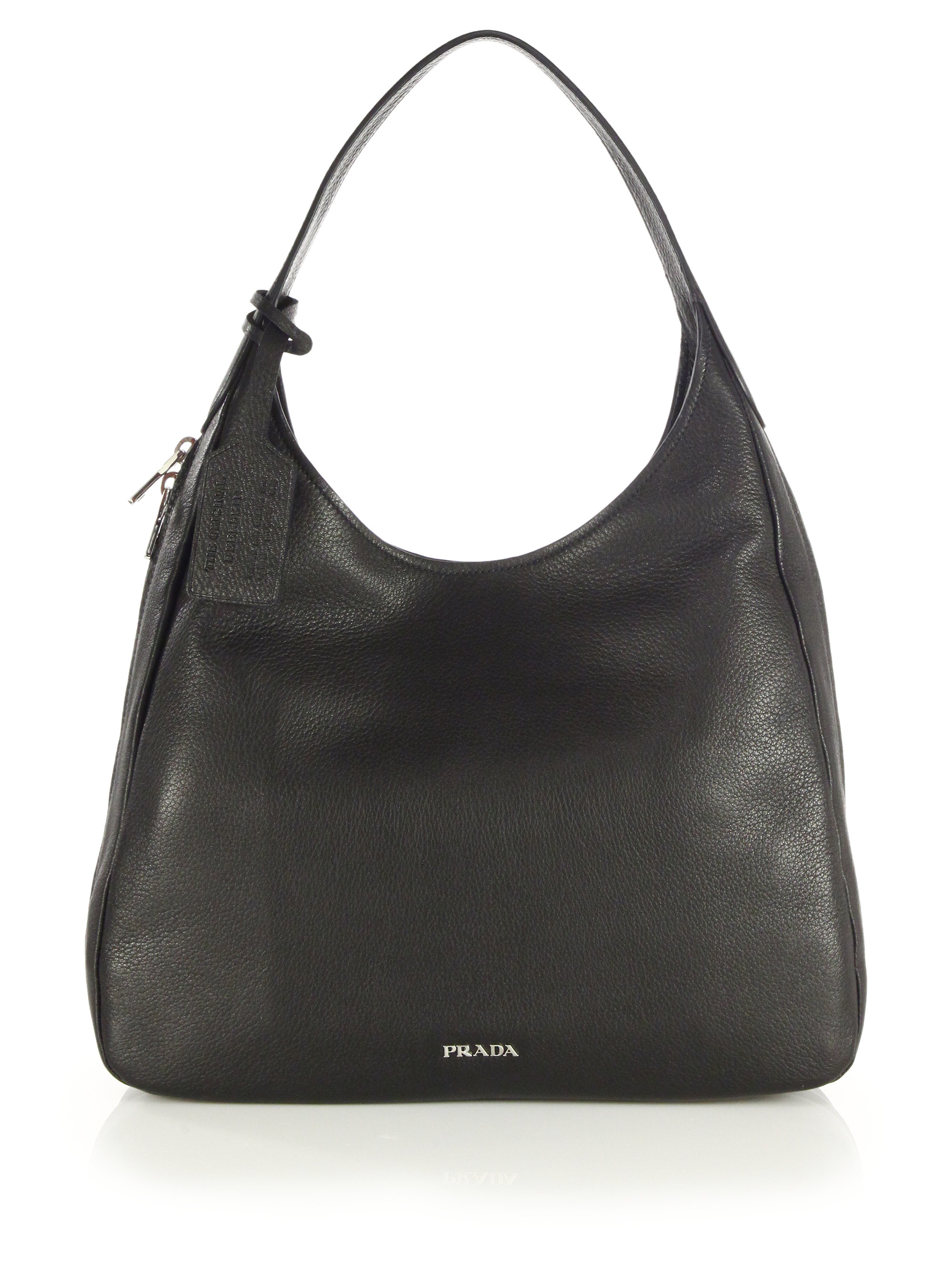 Prada Deerskin Hobo Bag in Black | Lyst