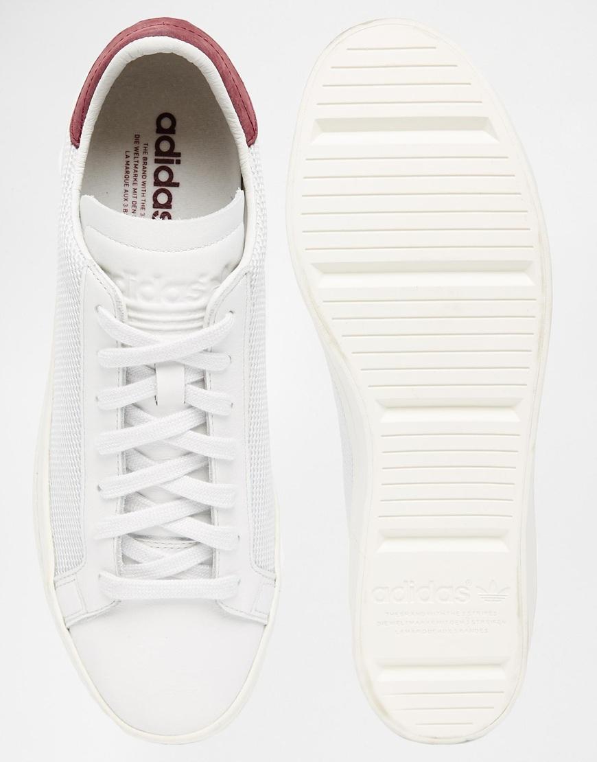 lyst adidas originals gericht vantage trainer s78761 in weißen männer