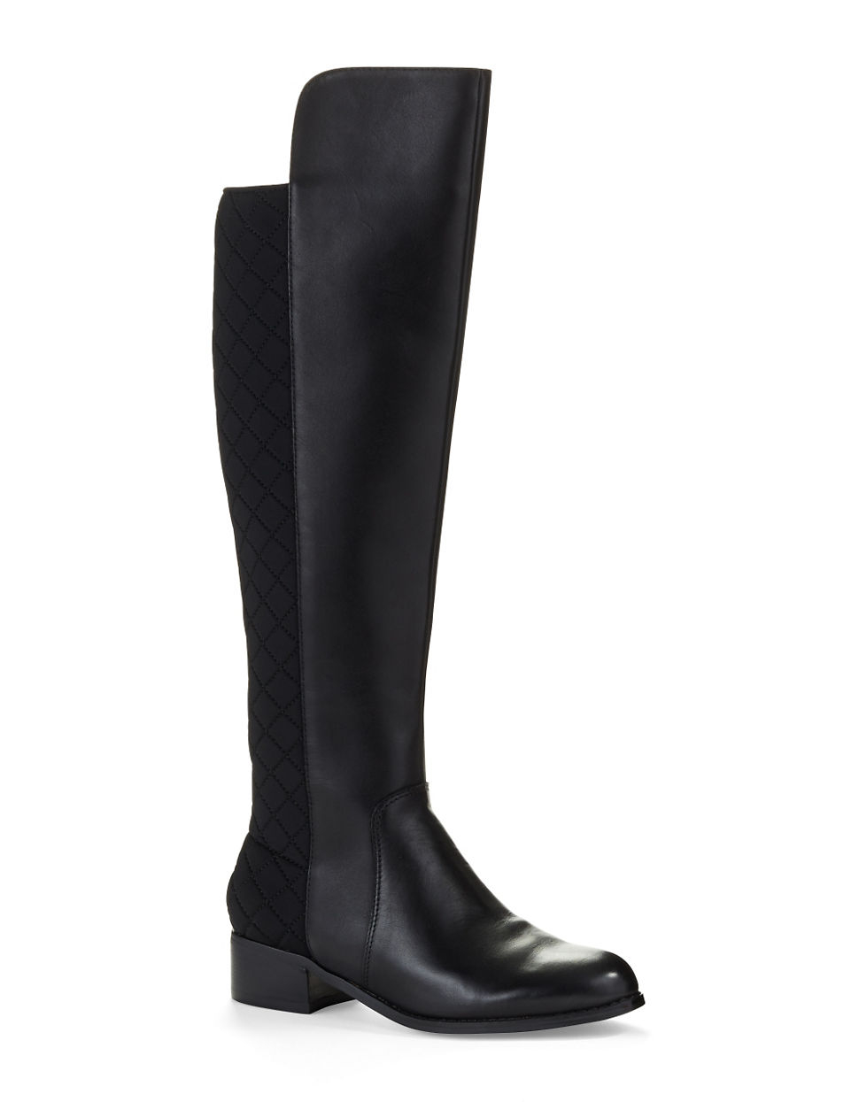 charles by charles david jace quilted knee high boots in