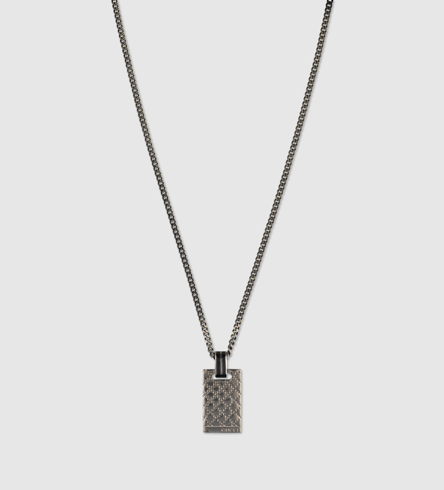 Lyst gucci diamantissima pendant necklace in sterling silver in gallery aloadofball Gallery