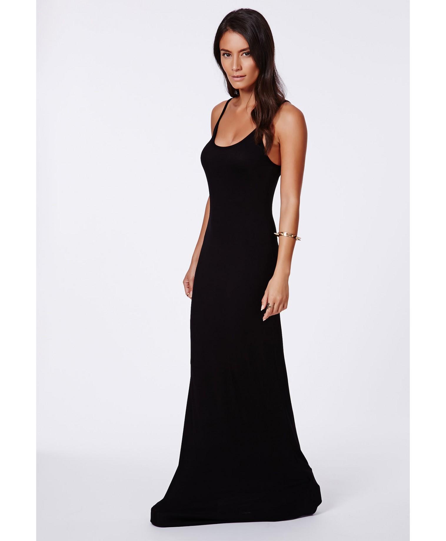 Long Black Strappy Dress