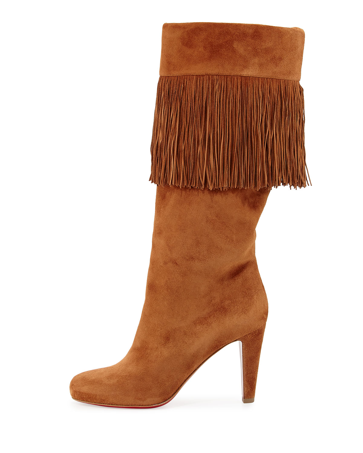 christian louboutins replica shoes - christian louboutin round-toe ankle boots Tan suede | cosmetics ...