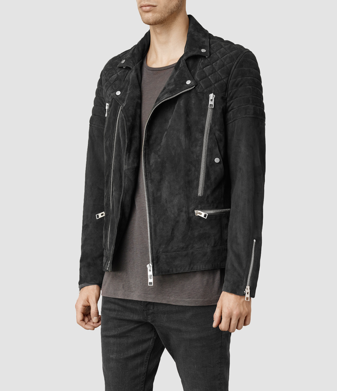 Black suede jacket sale