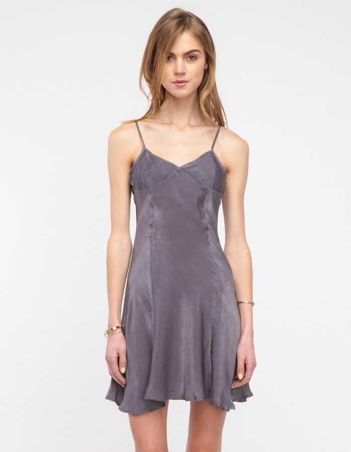 d70feabd3a53 Need Supply Co. Celestial Slip Dress in Gray - Lyst