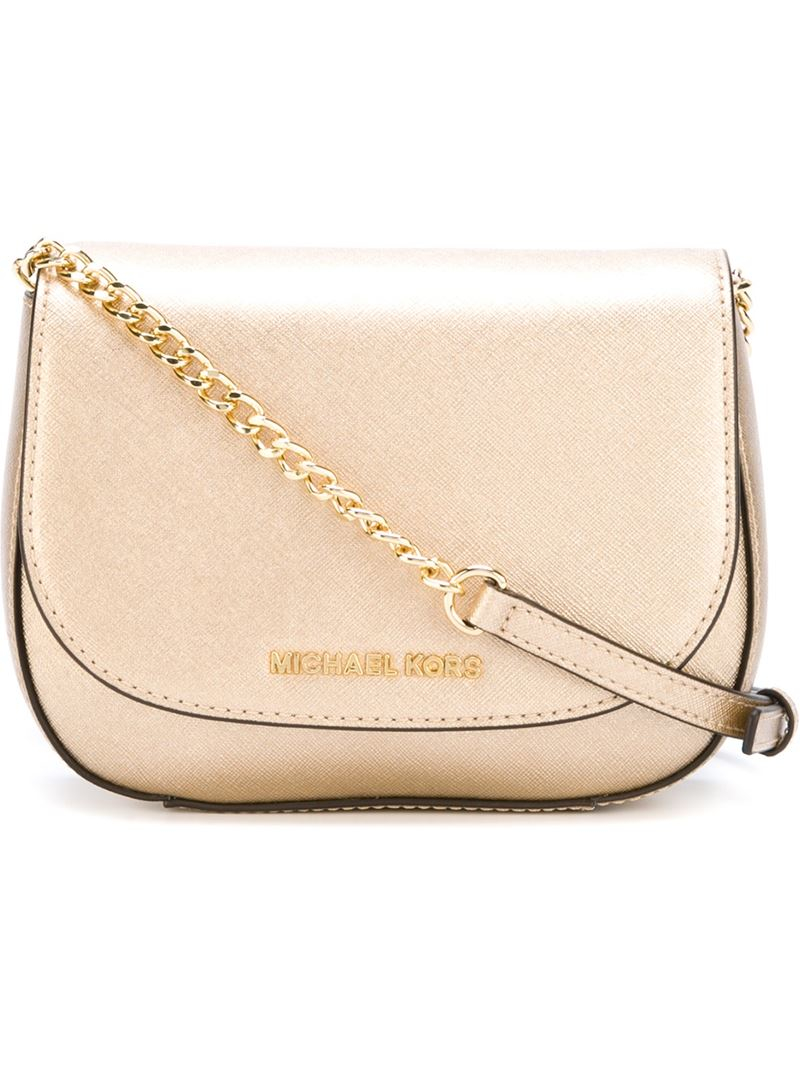 28dccf1c31d9 MICHAEL Michael Kors Bedford Leather Crossbody Bag in Metallic - Lyst