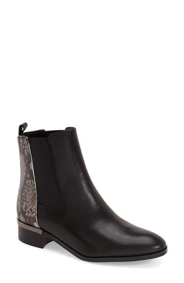 5320238da13d Lyst - Ivanka Trump E Day Snakeskin-Print Chelsea Boots in Black