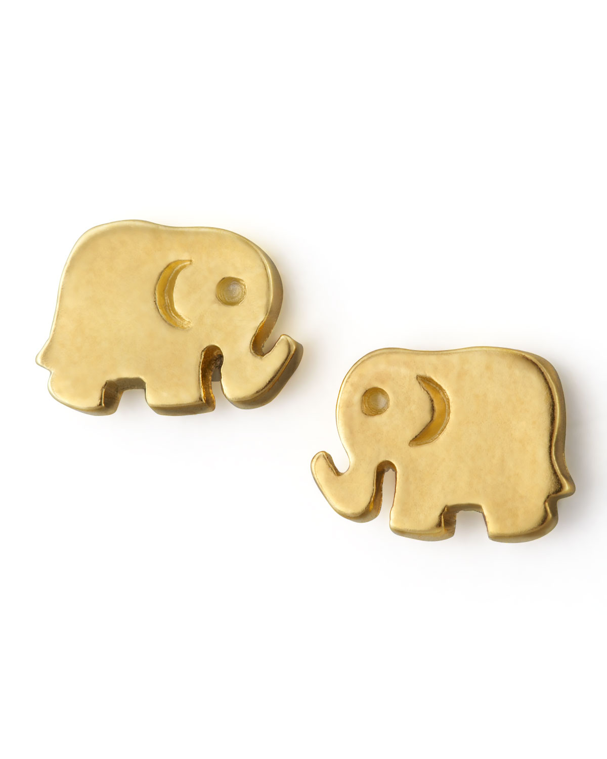 elephant stud earrings gold beautify themselves with