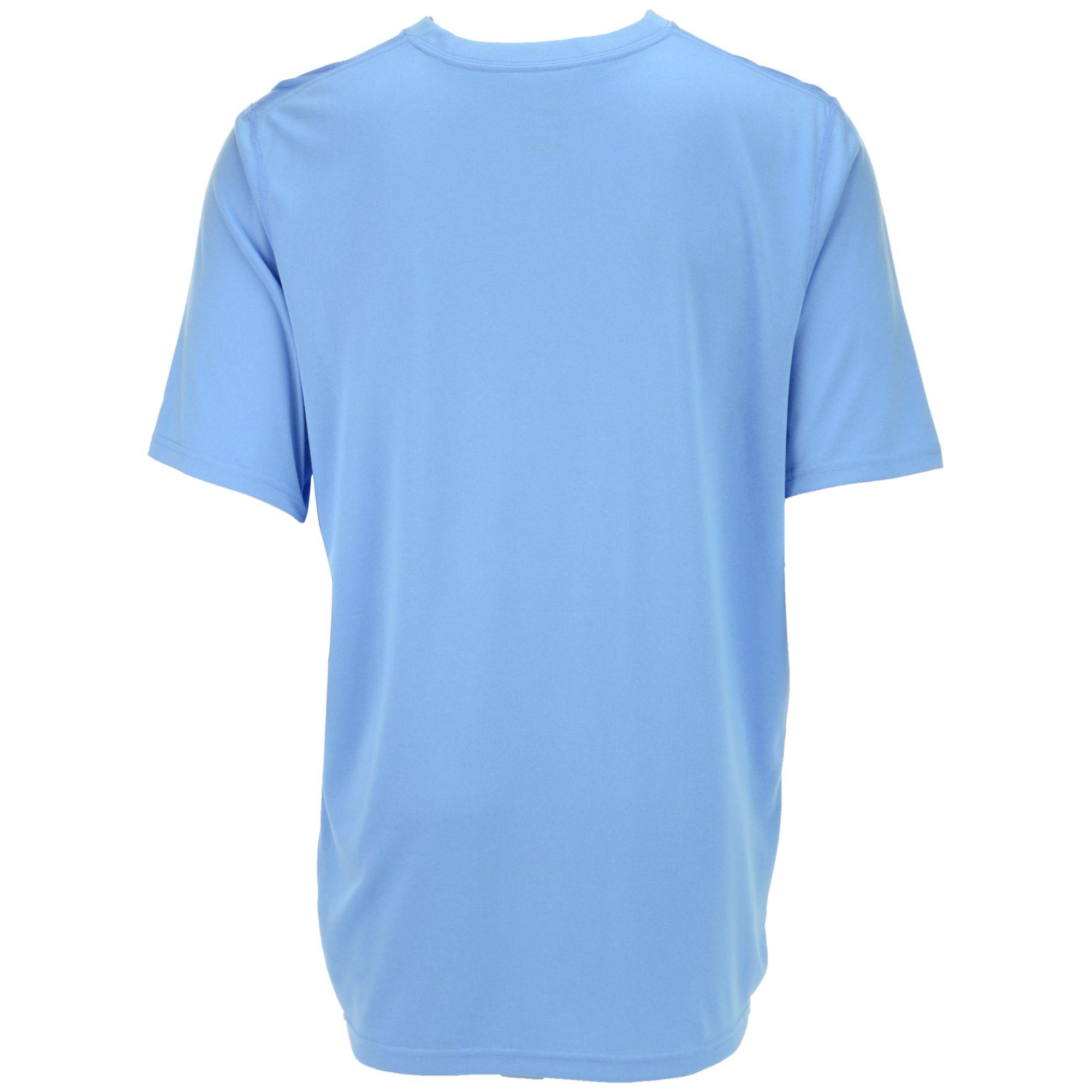 Nike blue men 39 s short sleeve north carolina tar heels for Nike short sleeve shirt