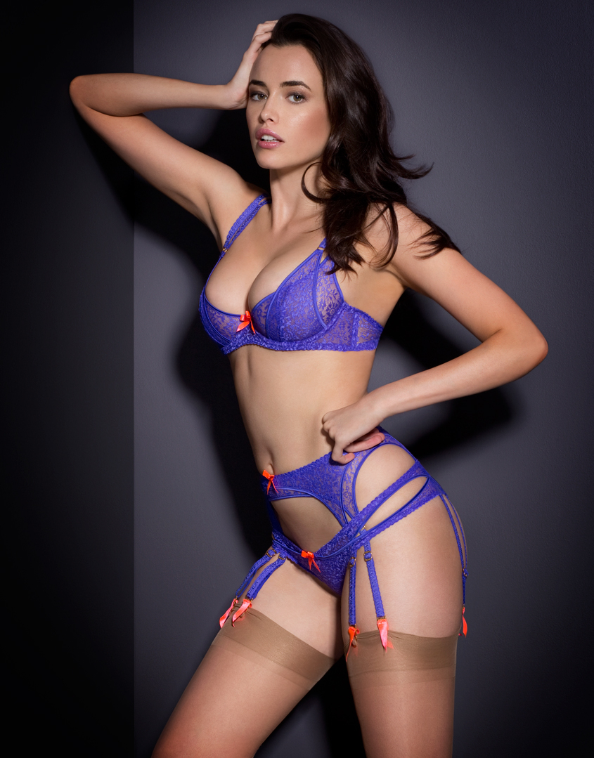 agent provocateur rei brief purple in blue purple lyst. Black Bedroom Furniture Sets. Home Design Ideas