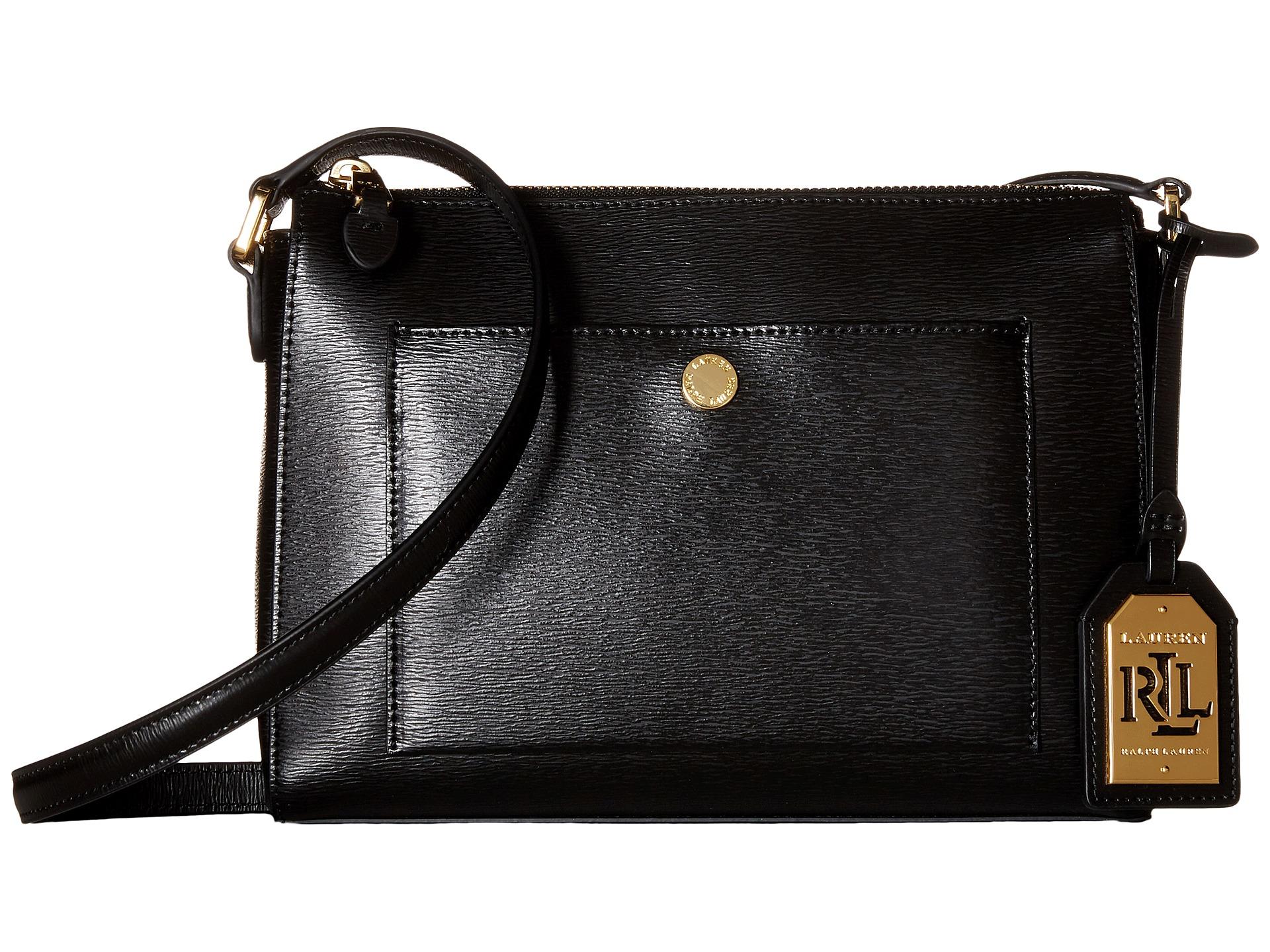 956740fe992b Lyst - Lauren by Ralph Lauren Newbury Pocket Crossbody in Black