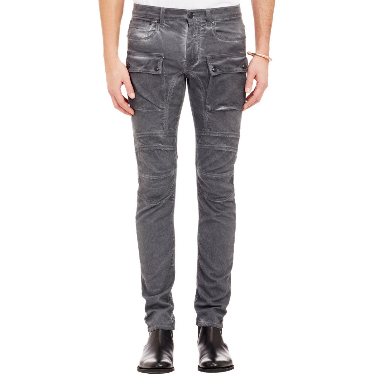 Lyst - Belstaff Felmore Moto Jeans in Gray for Men