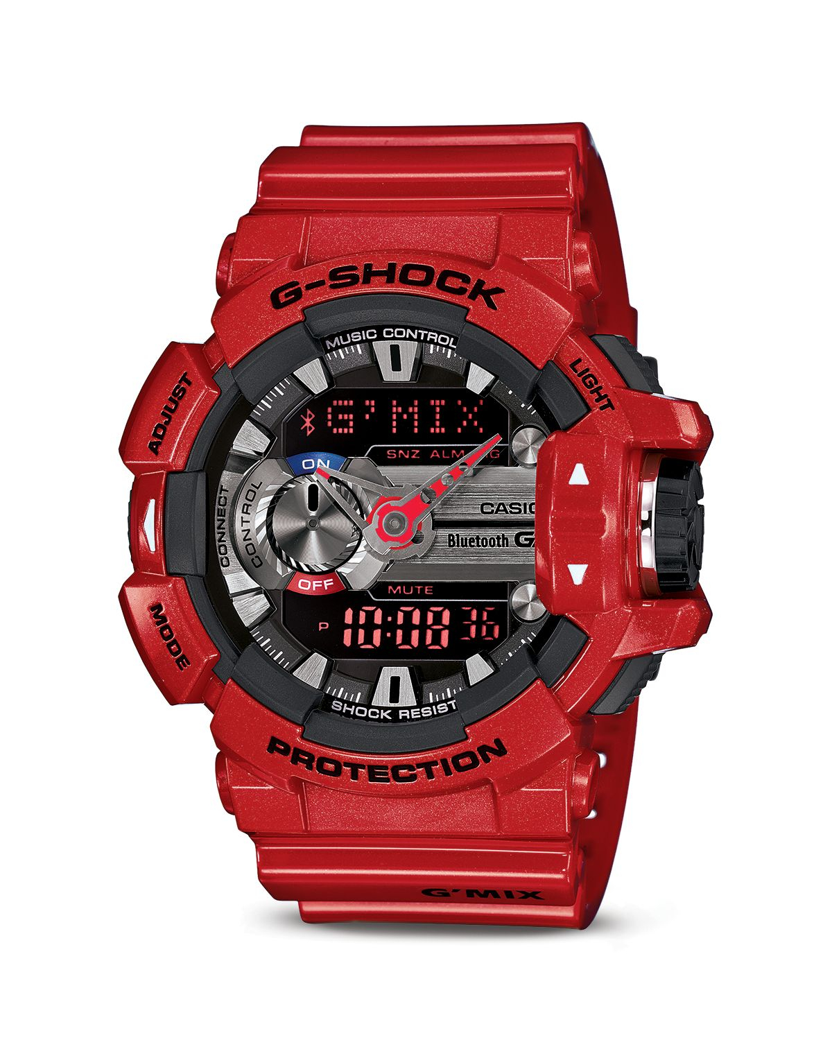 G-shock G'Mix Bluetooth Watch, 55Mm In Red For Men