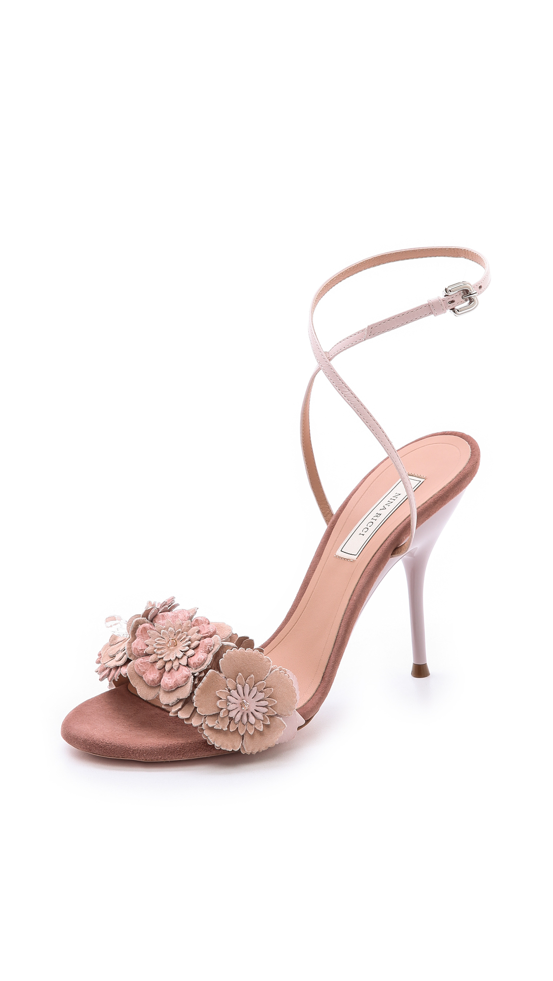 Nina Ricci Floral Slingback Sandals outlet official site cheap sale classic outlet prices manchester great sale sale online largest supplier for sale OdY6K