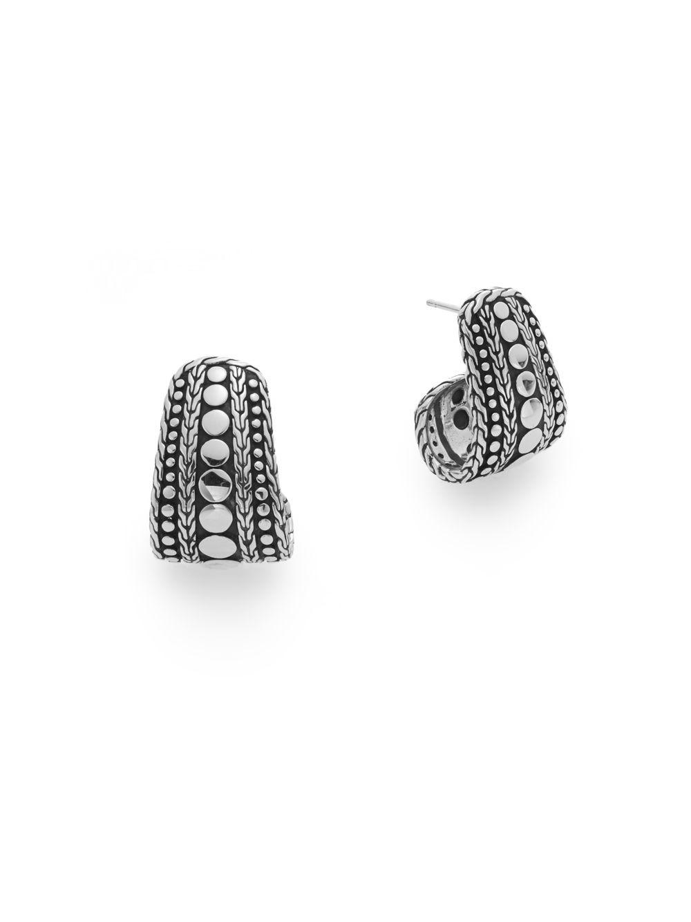 John Hardy Dot Twirl Round Earrings W6rYLWhSh