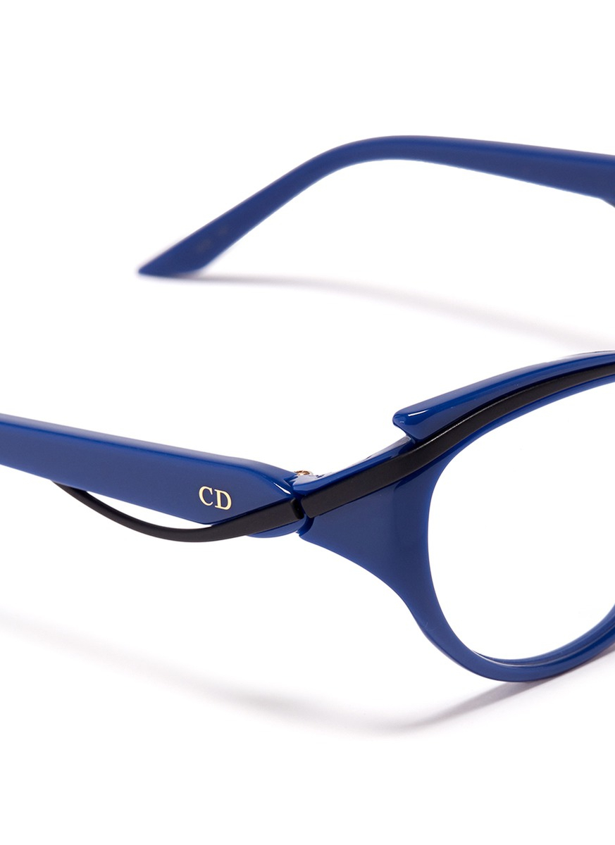 Dior Curve Brow Bar Cat Eye Optical Glasses in Blue | Lyst