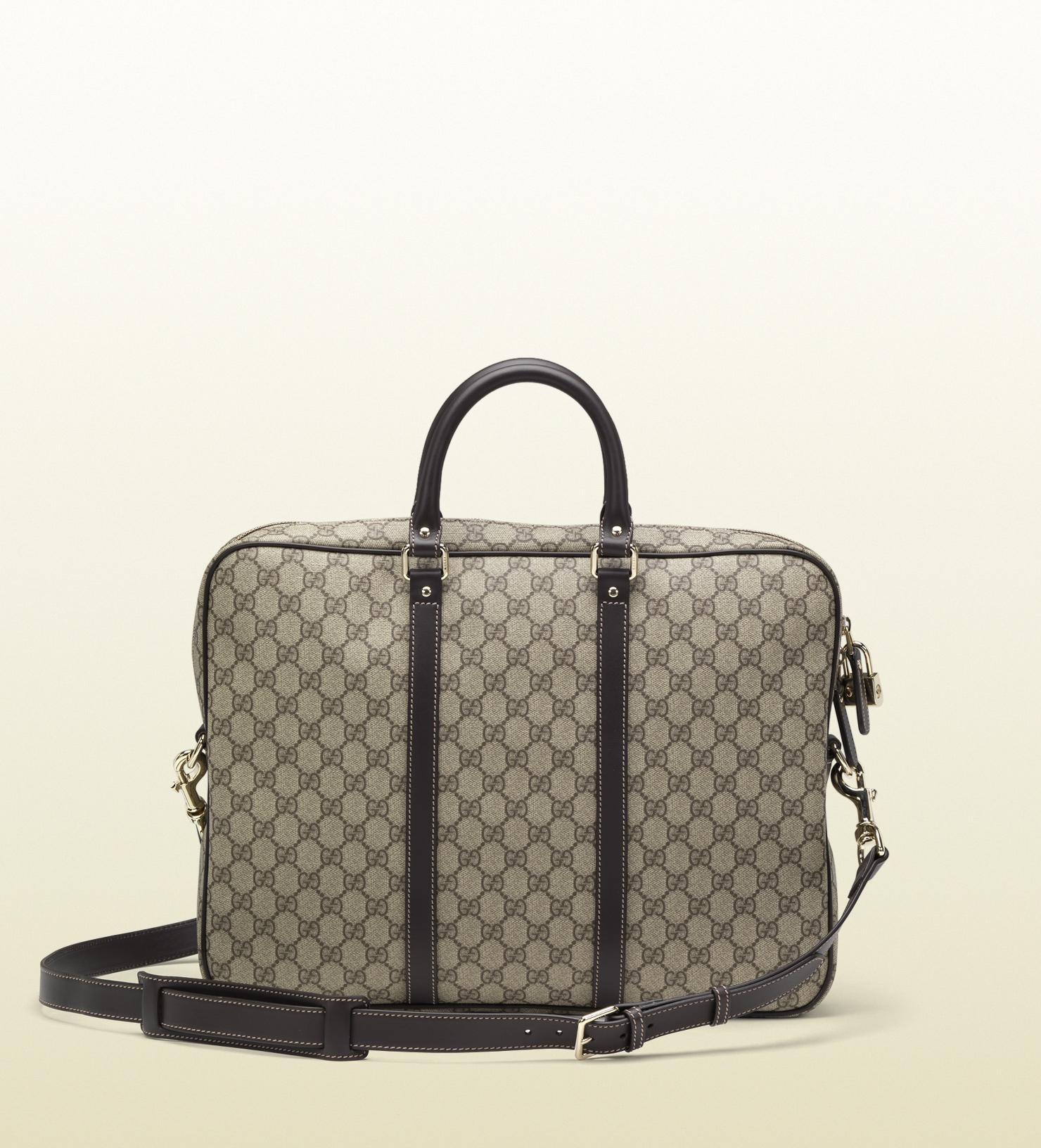 gucci brief Gucci men's diamante leather large briefcase bag 208468 dark brown by gucci (guccio gucci) $1,29500 $ 1,295 00 prime free shipping on eligible orders.