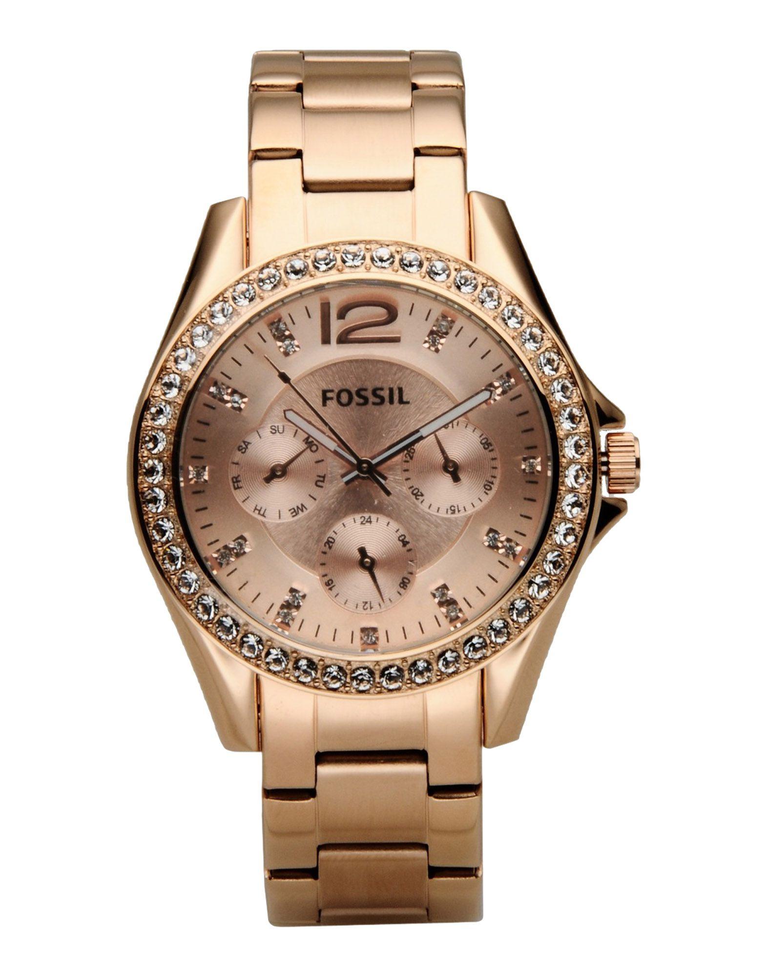 fossil wrist in gold copper lyst