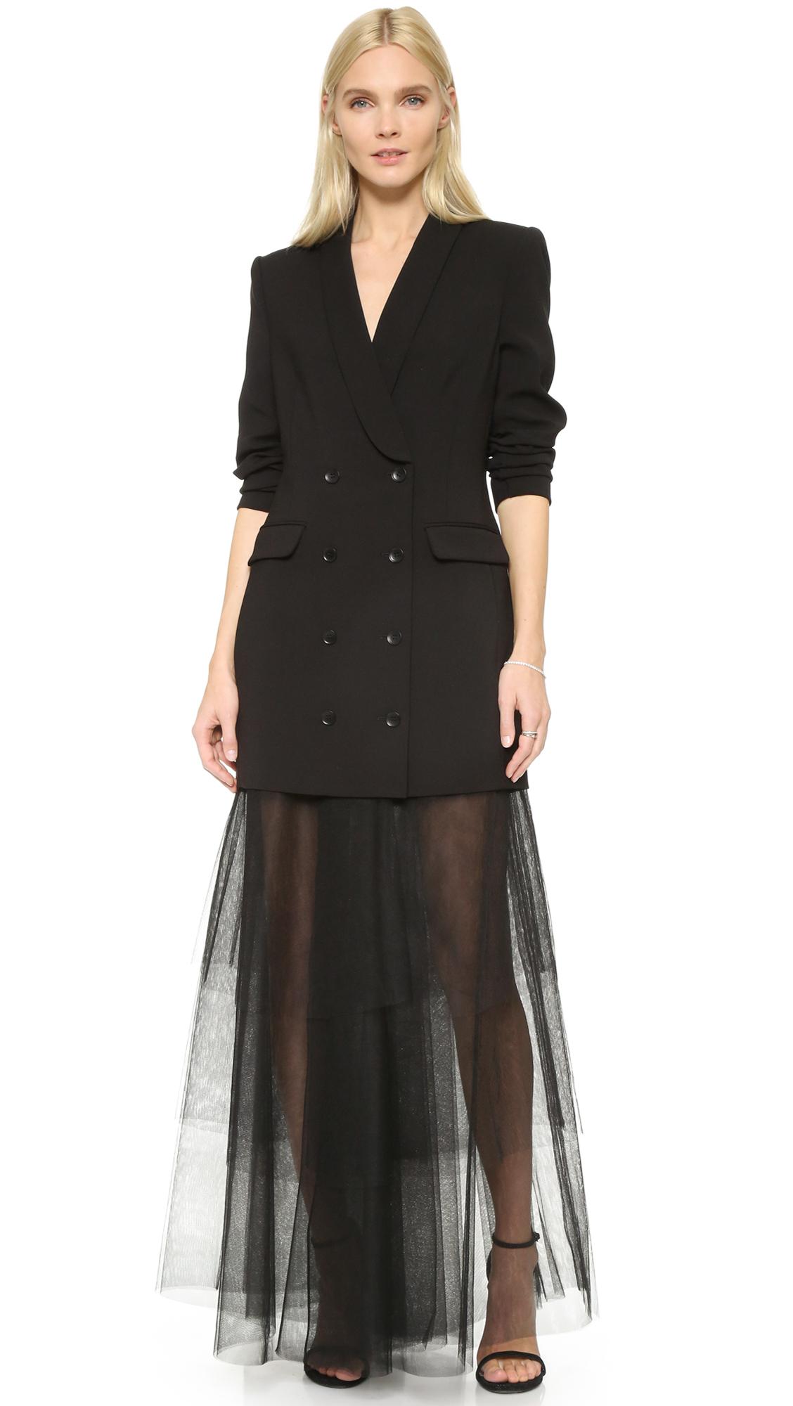 Lyst - Bcbgmaxazria Tux Jacket Gown in Black