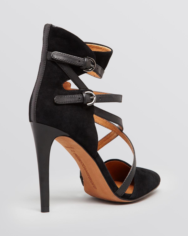Pre-owned - Black Suede Heels Rebecca Minkoff Cheap Sale Shop Offer Outlet Shop 09ozSq58ag