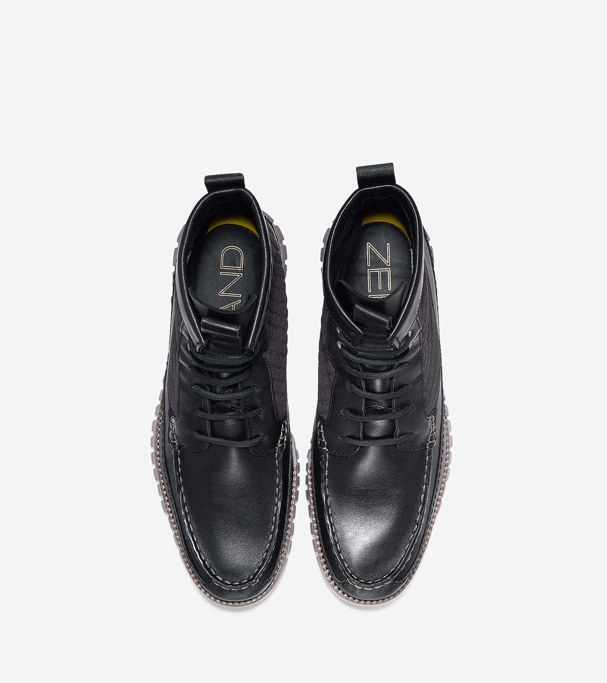 cole haan zer 248 grand water resistant leather boots in black