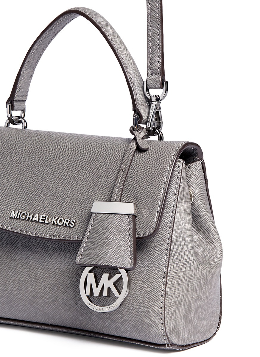 8d0249eee870 ... tote grey 4bd93 fd482; denmark michael kors ava petite saffiano leather  crossbody bag in gray lyst 0cd5d 64cb4