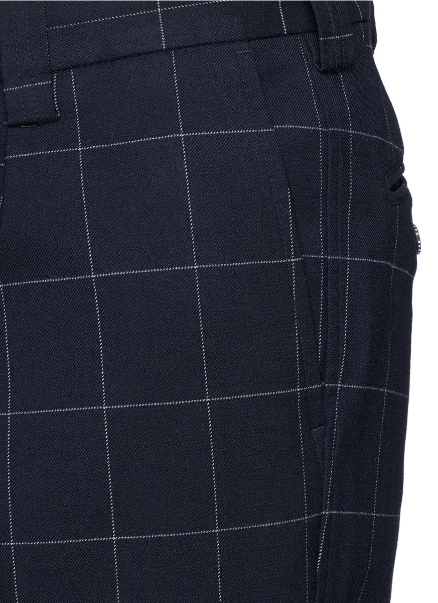 Lyst Nanamica Windowpane Check Cycling Pants In Blue For Men