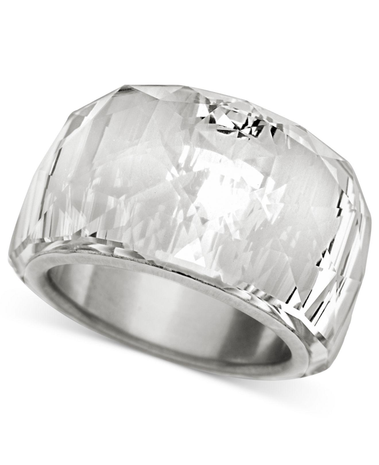 Lyst - Swarovski Crystal Ring in Natural dbaef76d81