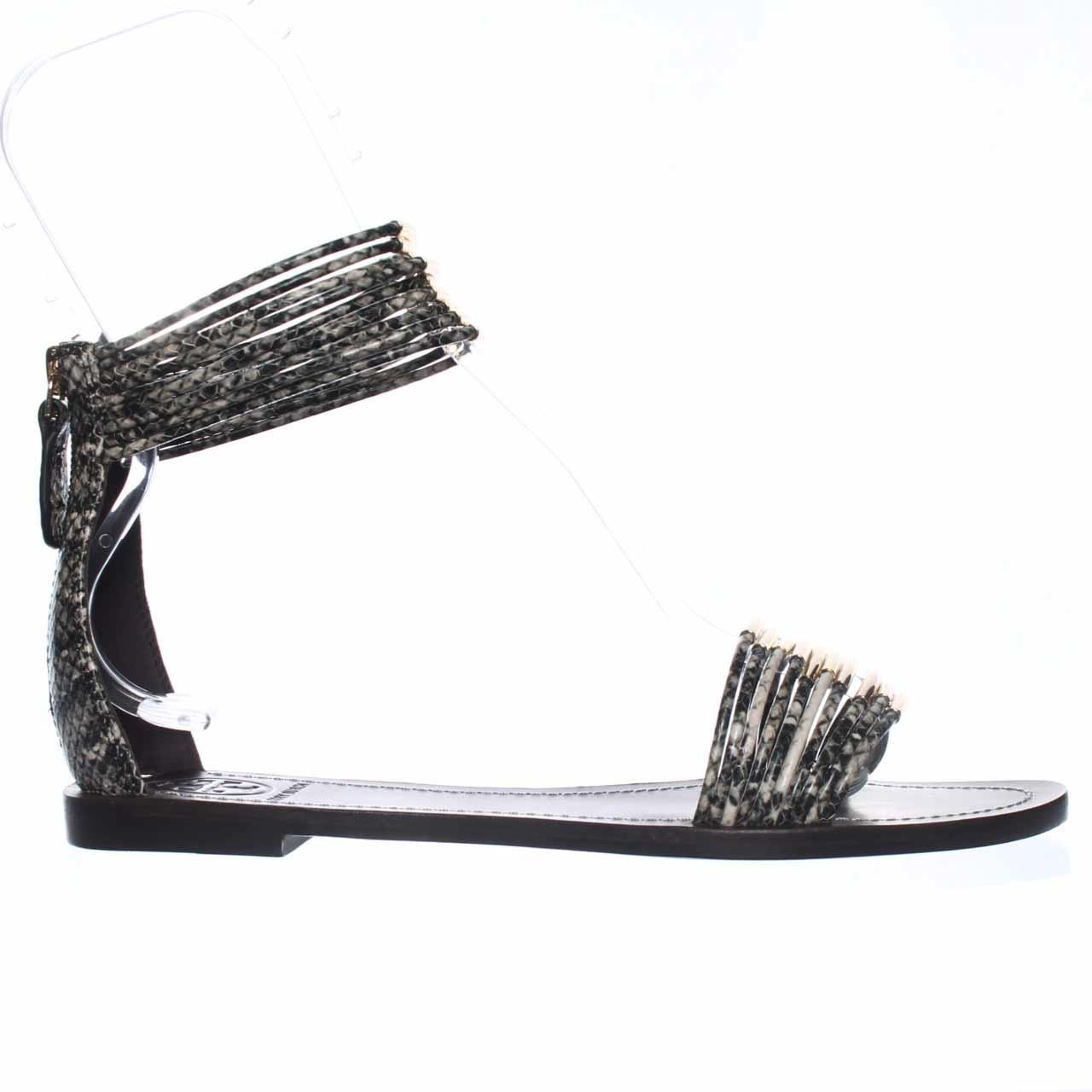 Tory Burch Mignon Ankle Strap Flat Sandals In Black Lyst