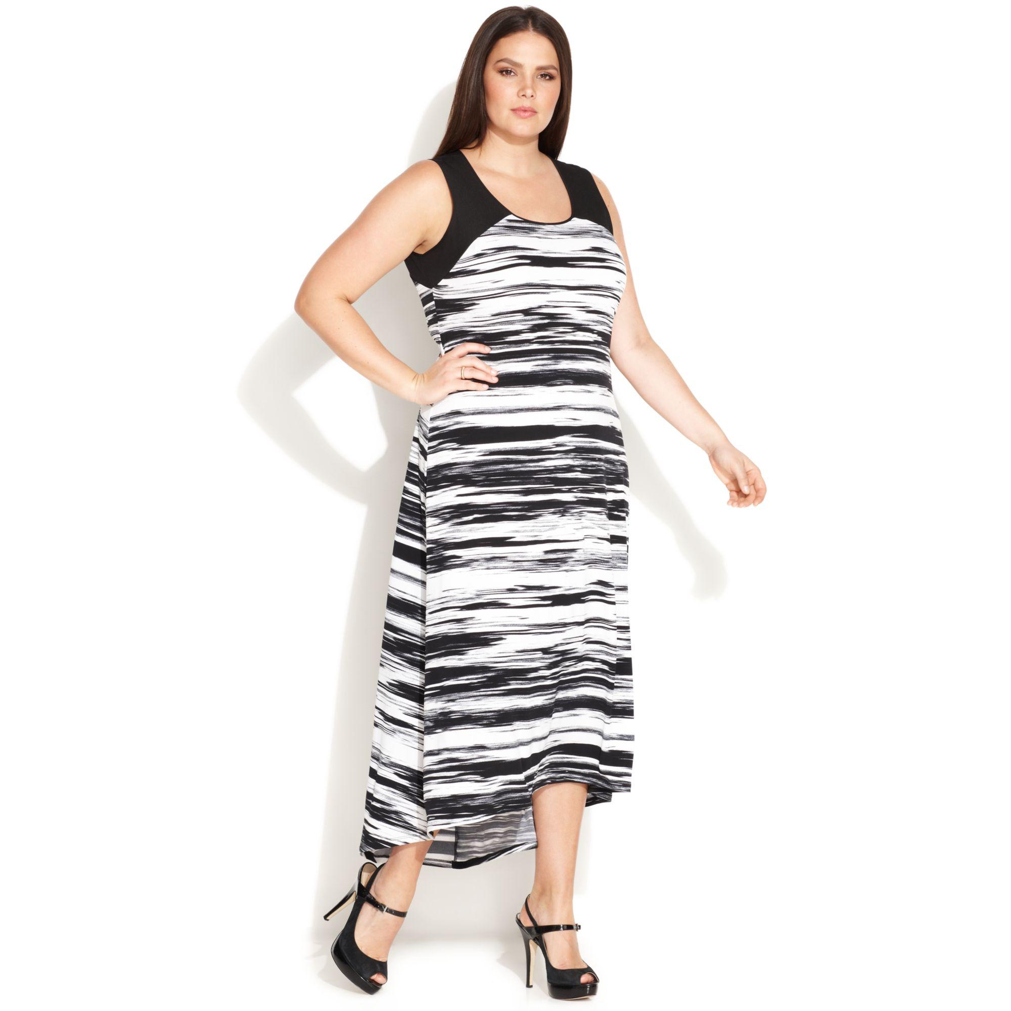 High low maxi dress plus