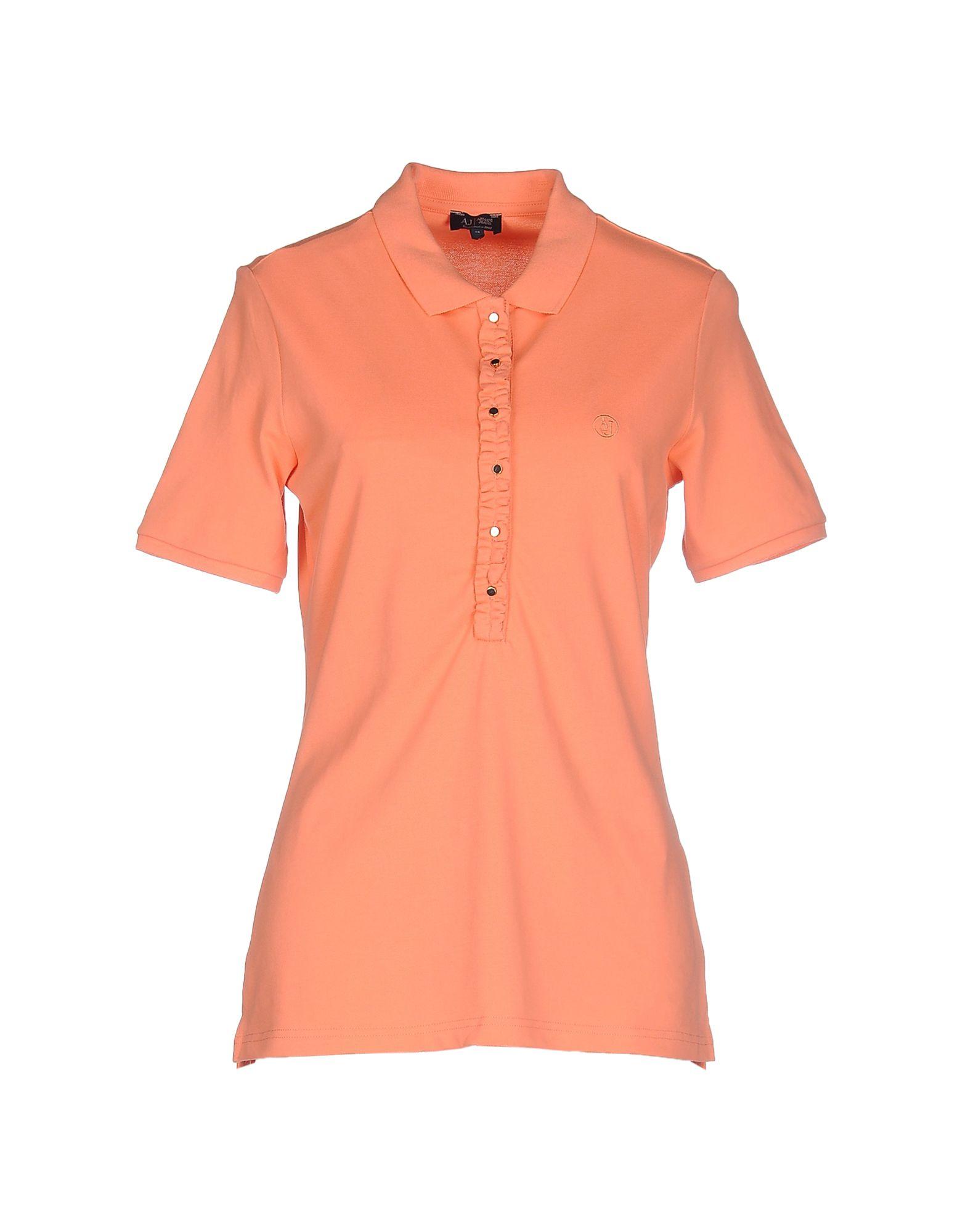 Armani Jeans Polo Shirt In Orange Lyst