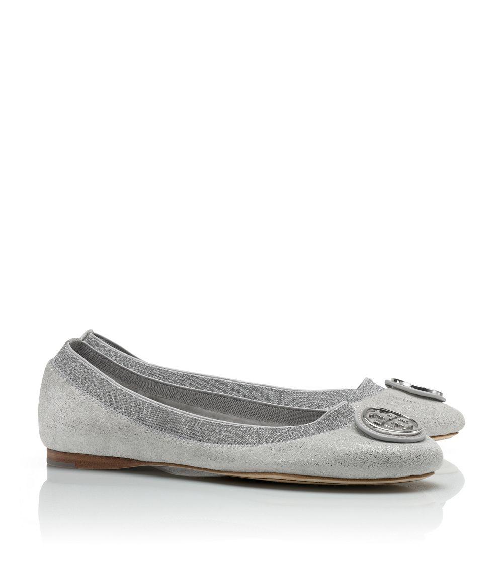 ffce08184099 Lyst - Tory Burch Caroline 2 Metallic Ballet Flat in Metallic