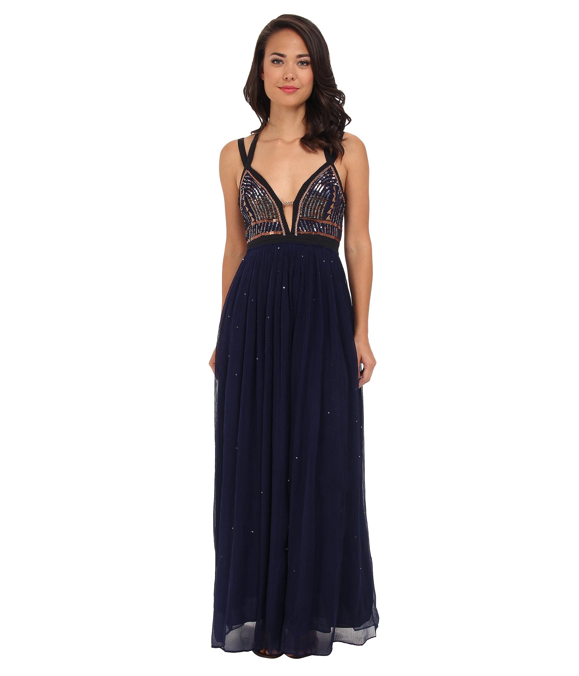 Free people Golden Chalice Dress in Blue | Lyst