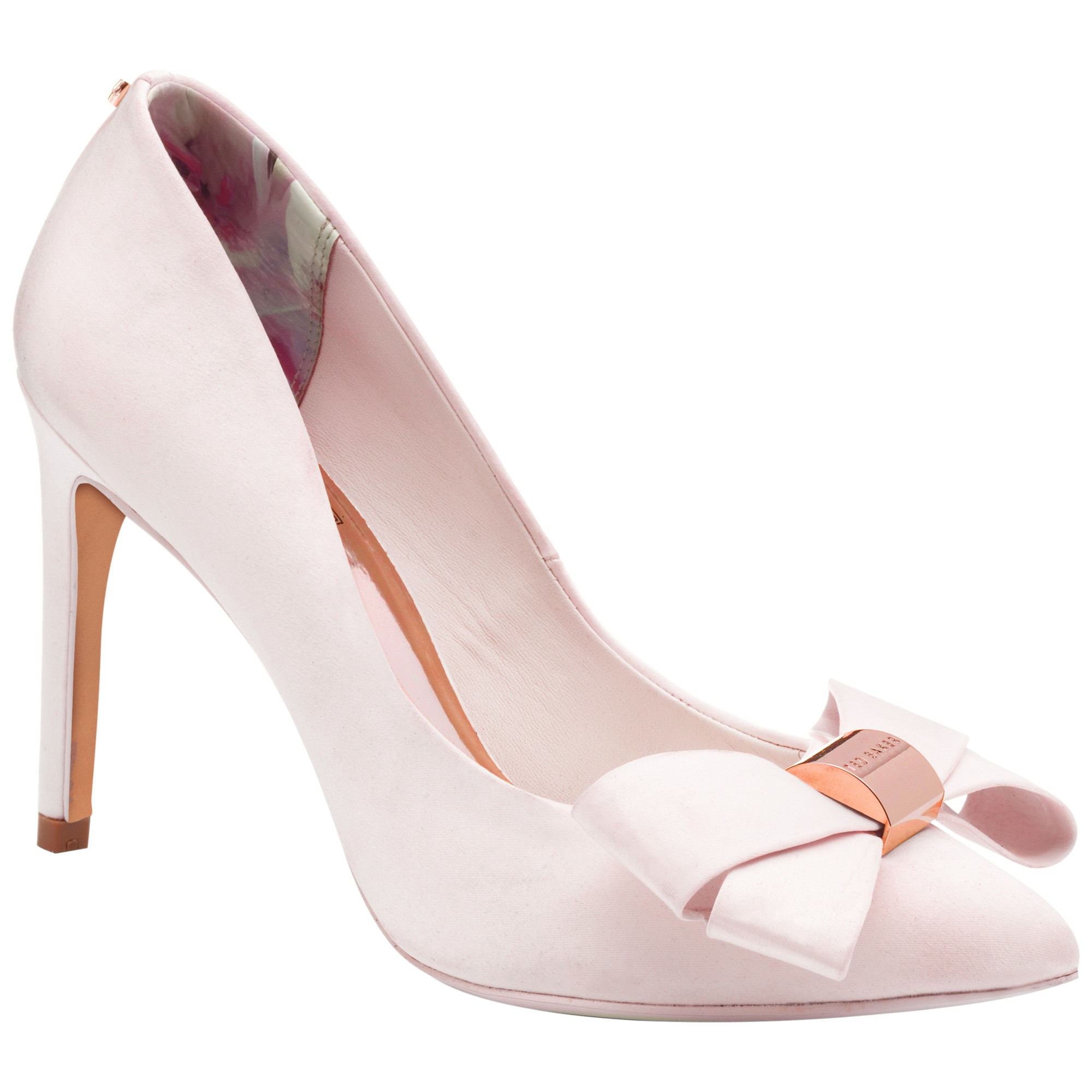 c11eefdd679e Ted Baker Ichlibi Pointed Toe Stiletto Court Shoes in Pink - Lyst
