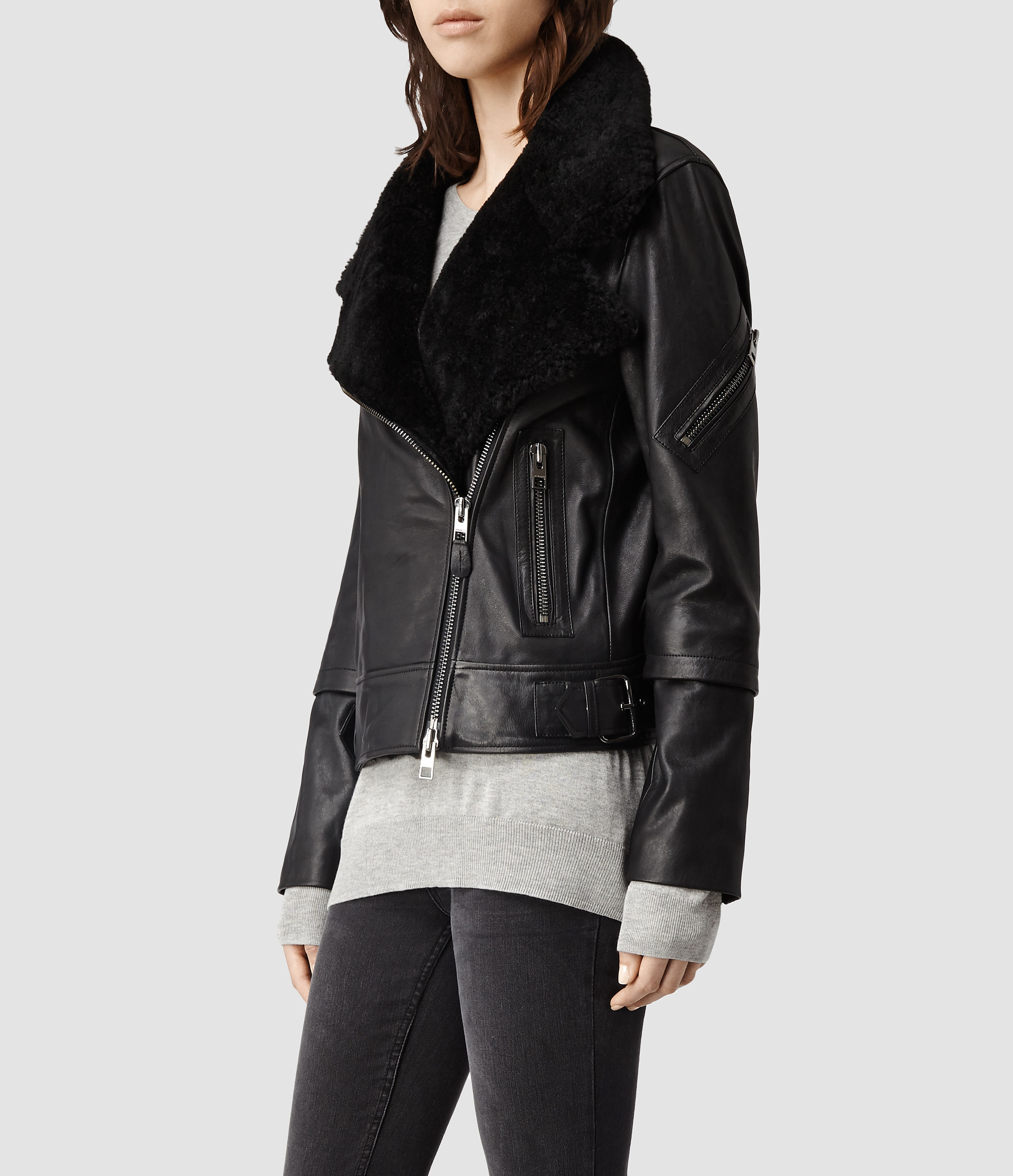 Leather jacket all saints - Gallery