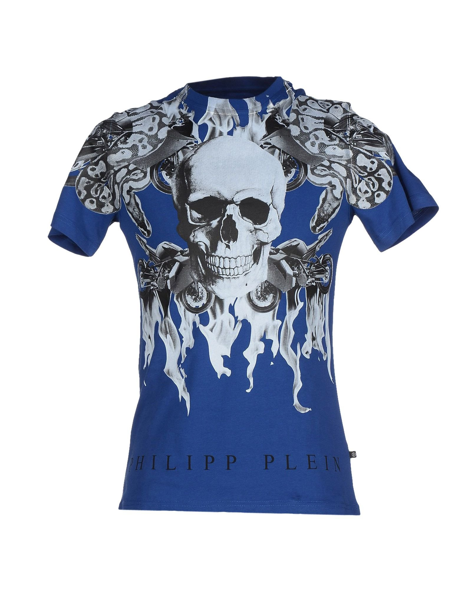 lyst philipp plein t shirt in blue for men. Black Bedroom Furniture Sets. Home Design Ideas