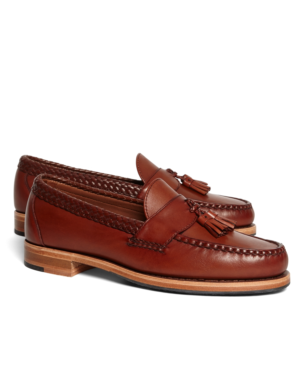 Lyst Brooks Brothers Braid Strap Tassel Penny Loafers In