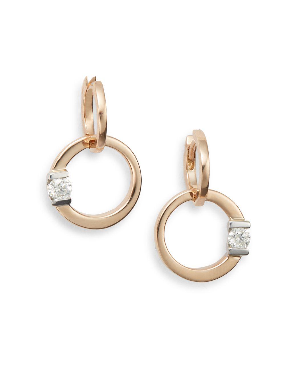 Roberto Coin 18k Diamond Circle Dangle Earrings 7elbqtK