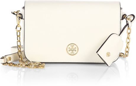 Tory Burch White Leather Shoulder Bag 49