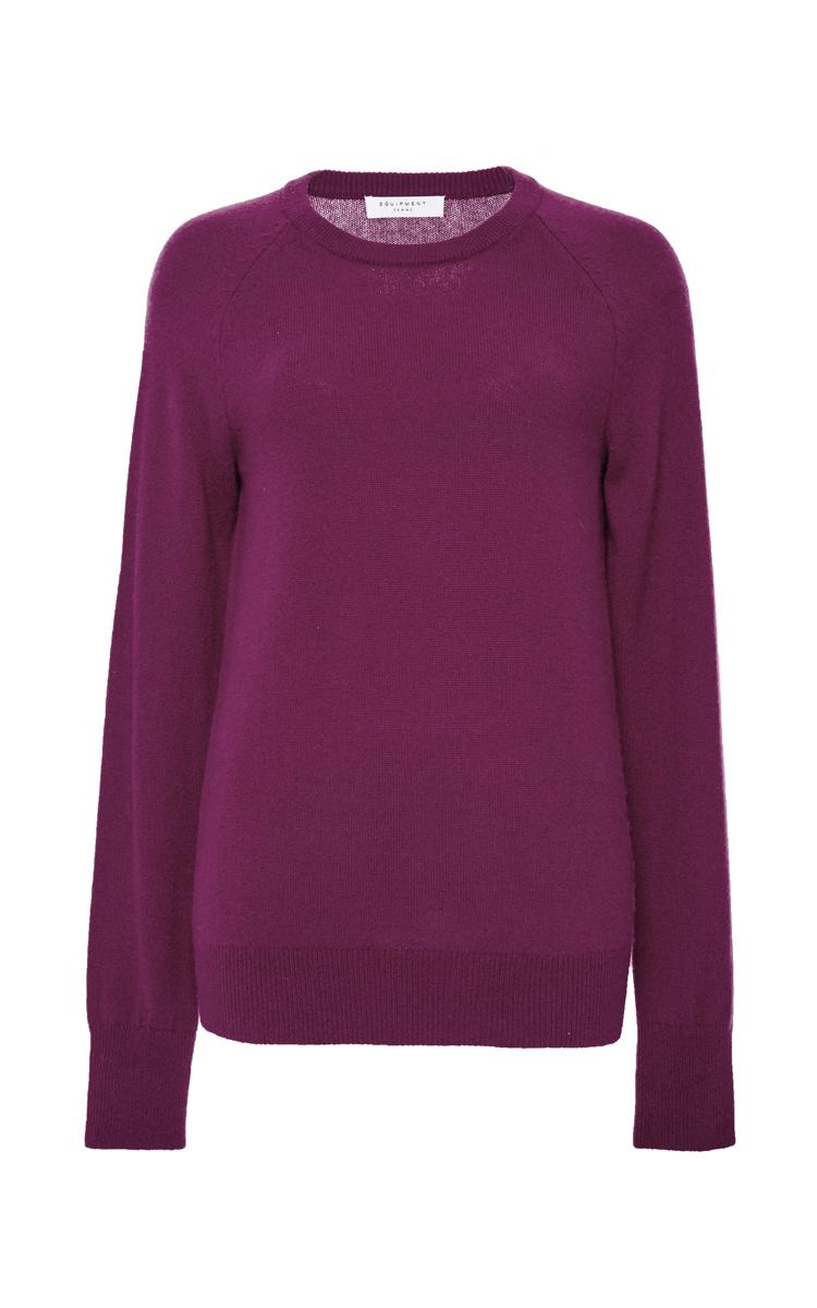 Equipment Dark Red Cashmere Sloane Crewneck Sweater in Purple   Lyst