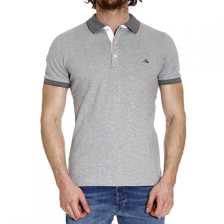 Fay t shirt polo half sleeve piquet doppiocollo french or for Full sleeve polo t shirts