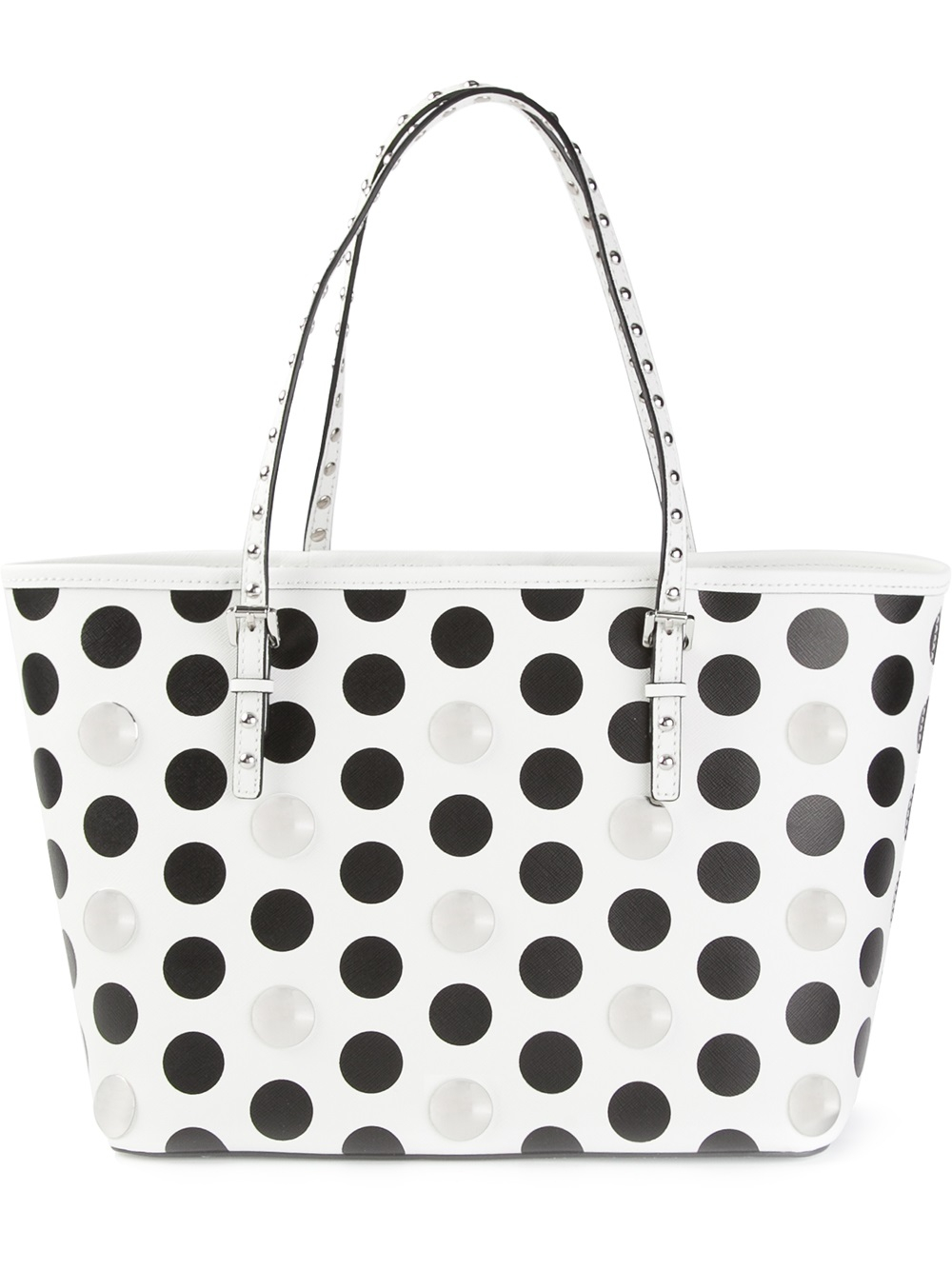 michael michael kors jet set shopper tote in white lyst. Black Bedroom Furniture Sets. Home Design Ideas