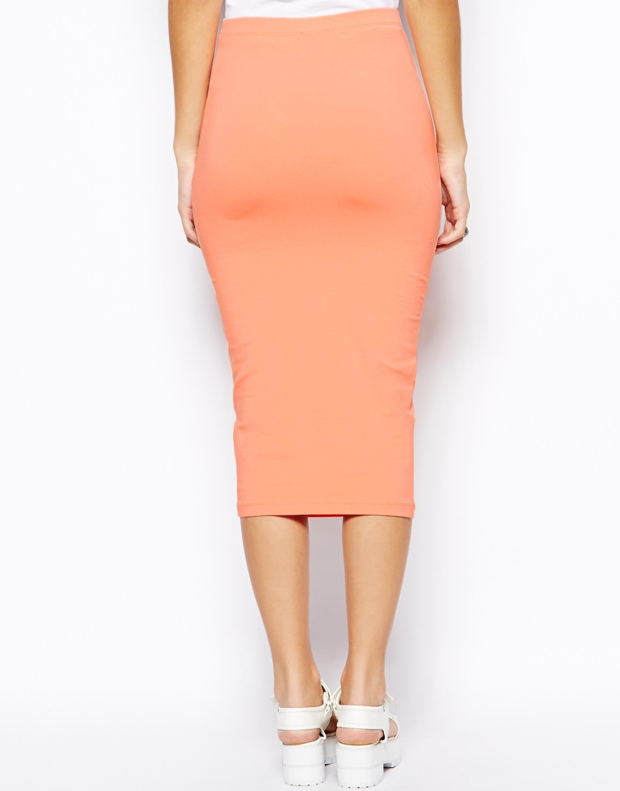 Peach Pencil Skirt - Dress Ala