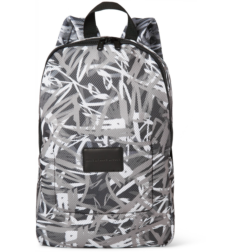 8b1cc072ed45 Lyst - Marc By Marc Jacobs Printed Padded Mesh Backpack in Black for Men