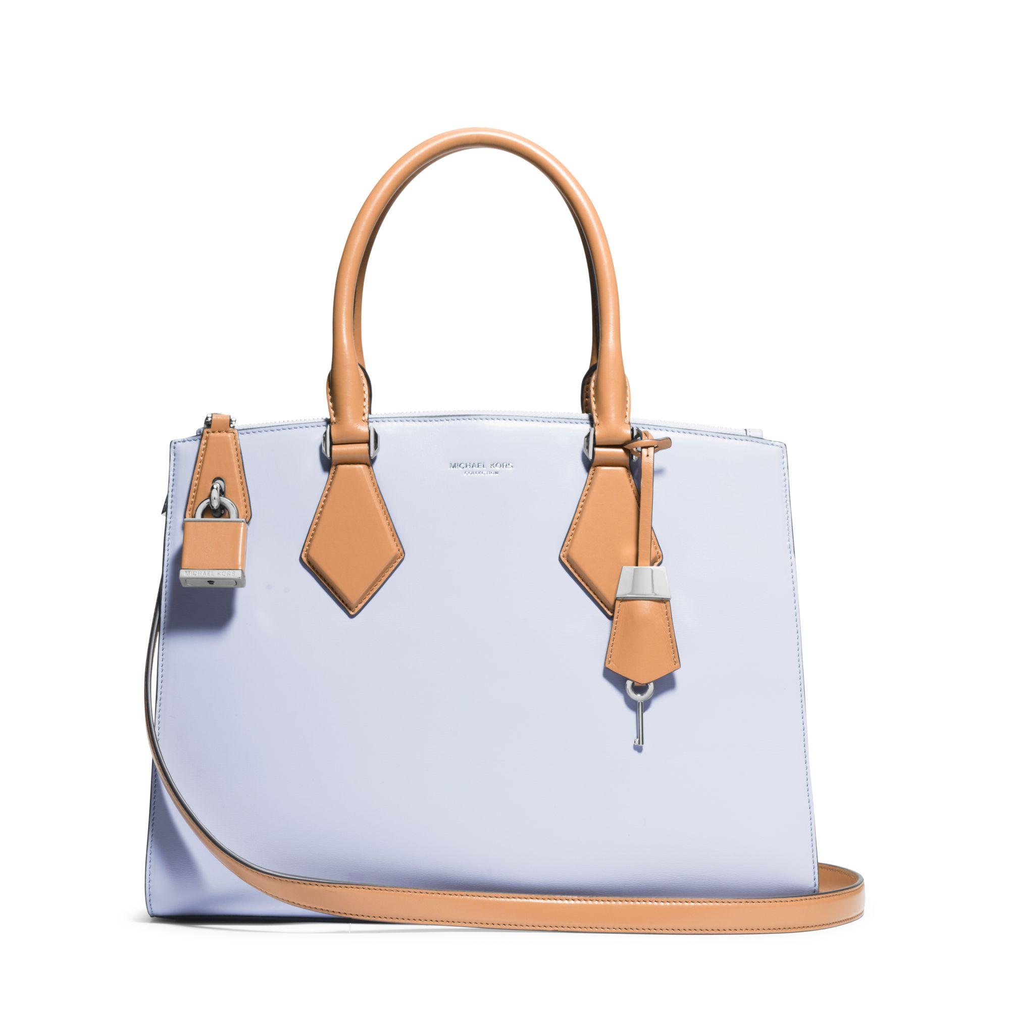 45996b1c754c michael kors casey large leather satchel